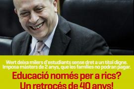 Barceló: «El PP pretende convertir las universidades en negocios para las élites»