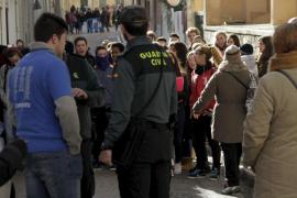 Manifestación en Inca a favor del profesor detenido por acosar a varias alumnas