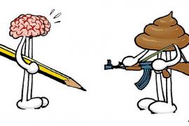 'Spirou' publica dos viñetas de Pau dedicadas a 'Charlie Hebdo'