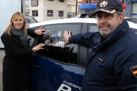 Los 59 coches patrulla de la Policía Nacional  llevarán mensajes contra la violencia de género