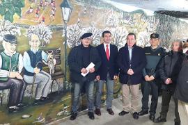 Reabren el paso de Crist Rei en Inca e inauguran el mural de Manuel Bozada