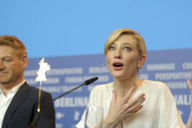 Director Branagh and actress Blanchett attend news conference at 65th Berlinale International Film Festival in Berlin