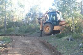 Las obras en el camino del Molí des Castellet no tienen licencia