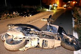 Muere un joven de 22 años al chocar contra un pilón en la carretera Santa Maria-Bunyola