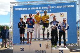 Mavi García y Joan Nadal suben al podio del Nacional de duatlón de larga distancia