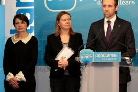 Margalida Durán, María Salom y José Ramón Bauzá