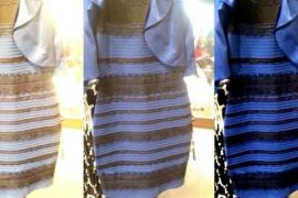 «¿De qué color ves el vestido, blanco o azul?»