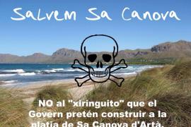 Polémica en Artà por la instalación de un chiringuito en la playa virgen de sa Canova