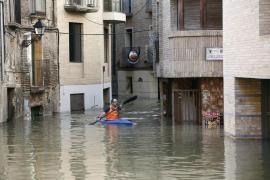 La riada del Ebro llega a Aragón