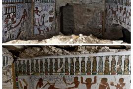 """Descubren la tumba faraónica del """"guardián del dios Amón"""" en Luxor"""