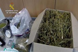 Laboratorio desmantelado de meta-anfetamina y marihuana en Cala Vadella.