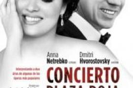 Proyección de un recital de ópera desde la Plaza Roja de Moscú