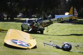 Harrison Ford, desorientado y lleno de sangre, fue rescatado por golfistas