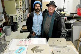 Albert Pinya y Àngel Terrón preparan el libro de artista 'Draft Art'