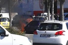 Se incendia un coche en el polígono de Son Castelló sin causar heridos