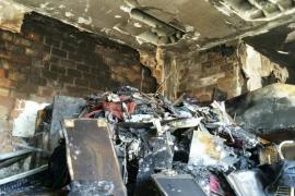 El hombre fallecido al arder su casa en Palma tenía montones de basura acumulados