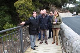 Los senderistas ya pueden usar la prolongación del camino viejo de  Lluc y la pasarela del Coll de sa Batalla