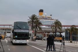 El crucero 'Costa Fascinosa' recala en Palma tras el atentado en el Museo Bardo de Túnez