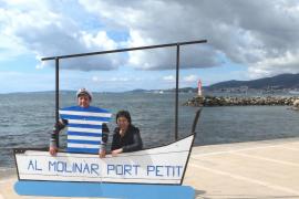 'Al Molinar, port petit' recaba apoyos a su campaña con fotos reivindicativas