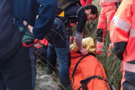Laborioso rescate de un excursionista herido en el Torrent de Pareis