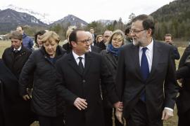Rajoy, Hollande y Merkel se reúnen en la zona de la catástrofe
