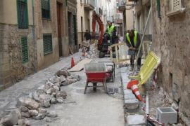 Obras simultáneas en el centro complican el tráfico en Sóller