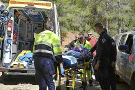 Rescatada una deportista que sufrió una caída en La Trapa