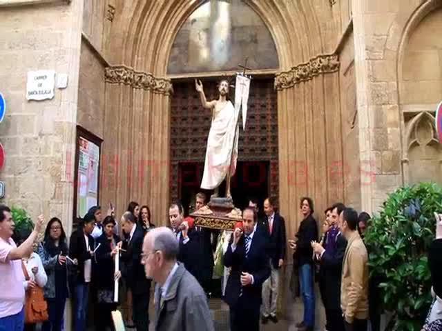 La Virgen y el Resucitado se encuentran en Santa Eulàlia