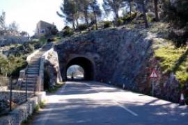 Comienzan las obras de contención de taludes de la carretera Andratx-Estellencs