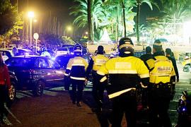 Detenidos dos tripulantes de un crucero por robar bolsos en el Paseo Marítimo de Palma