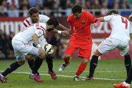 El Barça se deja dos puntos ante un Sevilla que anima la liga