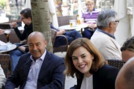 Soraya visita Palma para apoyar a Salom y Durán