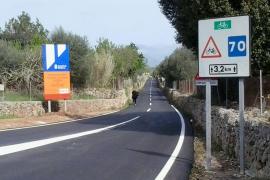 Finalizan las obras de refuerzo del firme de la carretera Algaida-Sencelles