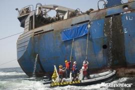 El pesquero Oleg Naydenov se hunde a 15 millas al sur de Maspalomas