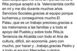 La concejala de Cultura de Valencia se despide con 30 faltas de ortografía