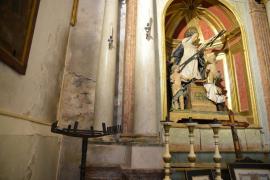 Degradación en la iglesia de Santa María de Andratx