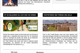 La vía verde del Llevant se publicita en Holanda