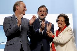 Alberto Fabra, Mariano Rajoy y Rita Barberá