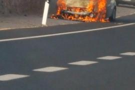 Arde un coche en Son Verí Nou