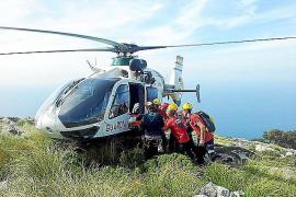 Rescatada una excursionista alemana que se fracturó un tobillo entre Valldemossa y Deià