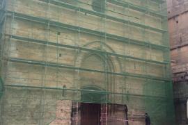 Obras en la iglesia de Sineu