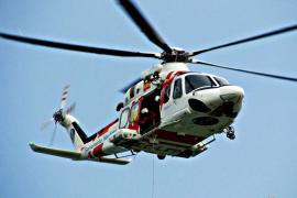 El helicóptero Helimer 213, con base en Palma, participó en las tareas de rescate.