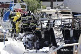 Muerto un matrimonio alemán en el incendio de un velero en s'Arenal