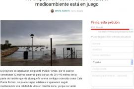 4.000 firmas piden evitar la ampliación del puerto de Punta Portals