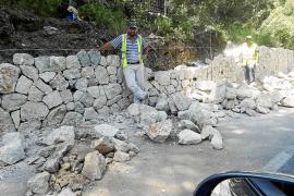 Quejas por la peligrosidad del muro de contención de la carretera de Escorca