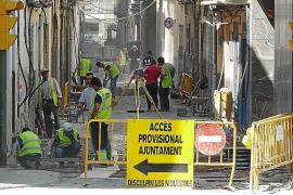 Protestas de vecinos y comerciantes de Manacor por las obras