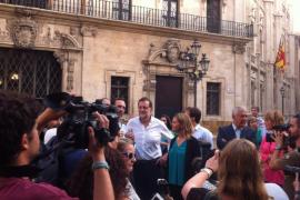 Rajoy visita Palma y muestra su apoyo al pequeño y mediano comercio