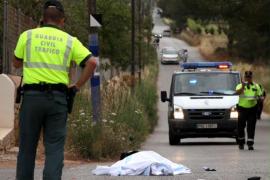 Imágenes del accidente mortal en Santa Eulària