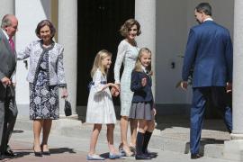 La Familia Real acompaña a Leonor el día de su Primera Comunión