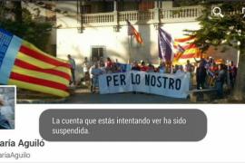 Twitter cancela la cuenta de la diputada del PP Ana María Aguiló